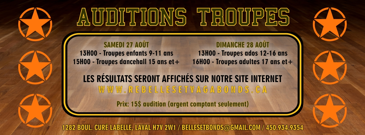 Auditions-Troupes